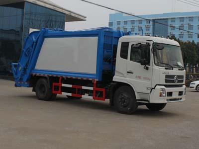 东风天锦12方压缩式垃圾车