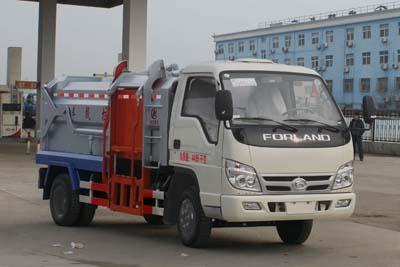 福田时代3方自装卸式垃圾车