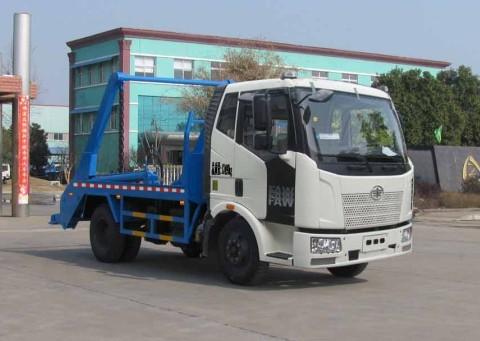 解放J6型8方摆臂式垃圾车