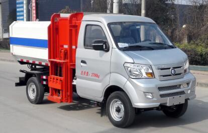 重汽王牌3方自装卸式垃圾车